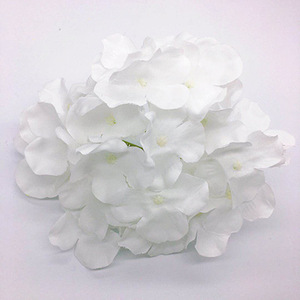 Image 4 - Kyunovia 50PCS Hydrangea flower heads Wedding Flowers Wedding garden decoration fake flores wall DIY Bridal Bouquet D146