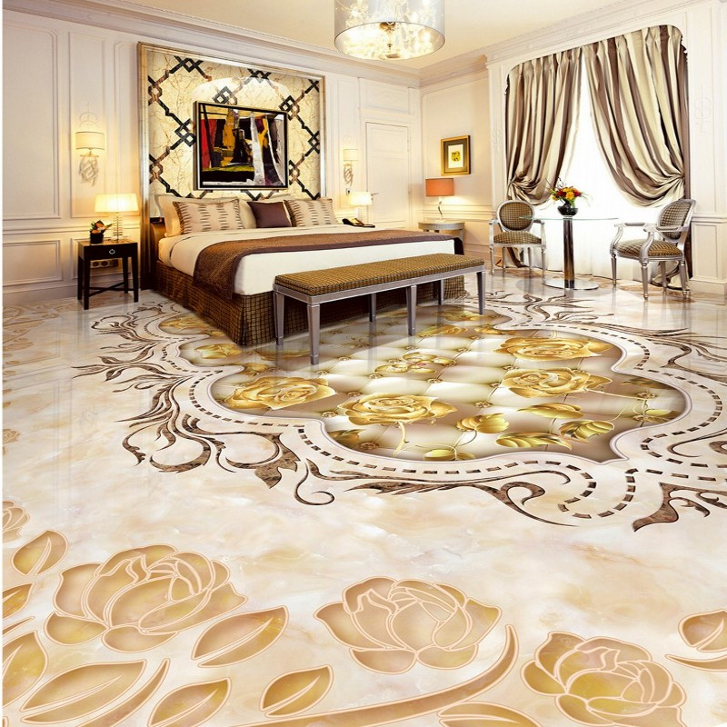 Free Shipping Marble texture parquet flooring wallpaper bedroom bathroom office hotel decoration wear floor mural free shipping european style marble texture parquet 3d floor custom art wallpaper self adhesive shopping mall bedroom mural