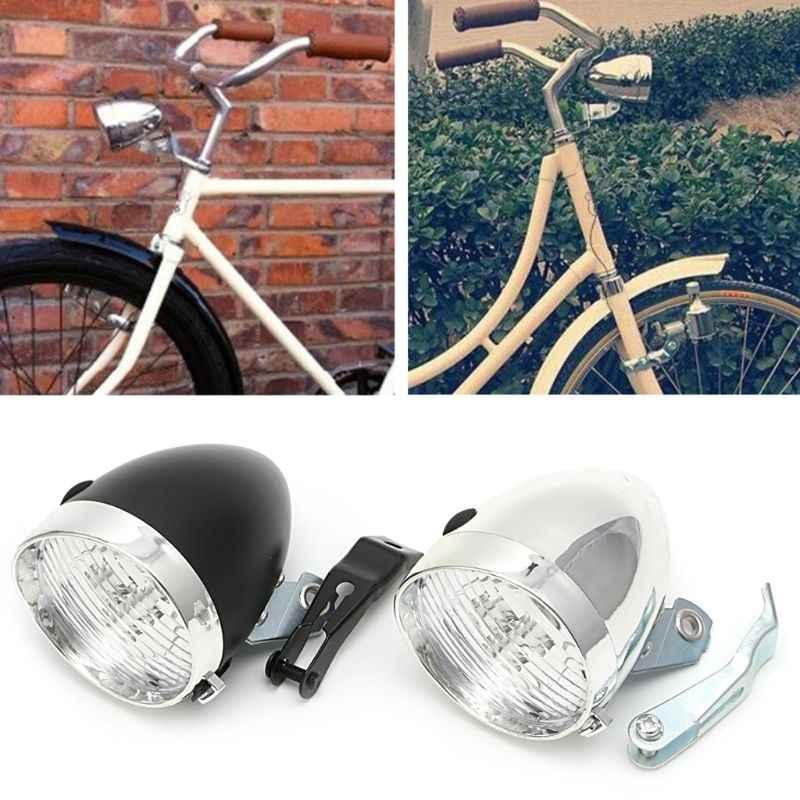 Useful Bicycle Light 3 LED Vintage Retro Classic Bike Front Light Headlamp