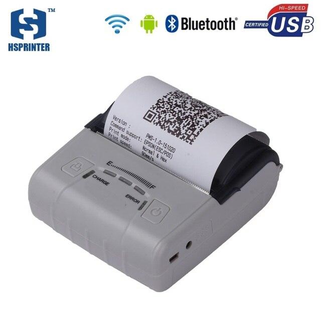 Pos 80 мм android wifi мини-принтер bluetooth термальный принтер impressora с 2500 мАч аккумуляторной батареи билл печатная машина