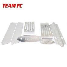 1:5 X MAXX XMAXX telaio in metallo armatura vestito aggiornamento piastra paramotore in acciaio inox kit telaio armatura piastra di protezione per auto RC