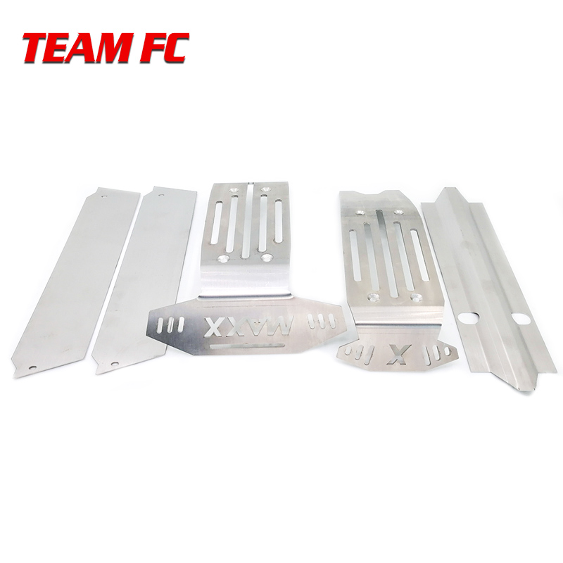 1:5 <font><b>X</b></font>-<font><b>MAXX</b></font> XMAXX Metal Chassis Armor Suit Upgrade stainless steel skid plate kit chassis armor protection plate for <font><b>RC</b></font> <font><b>car</b></font> image