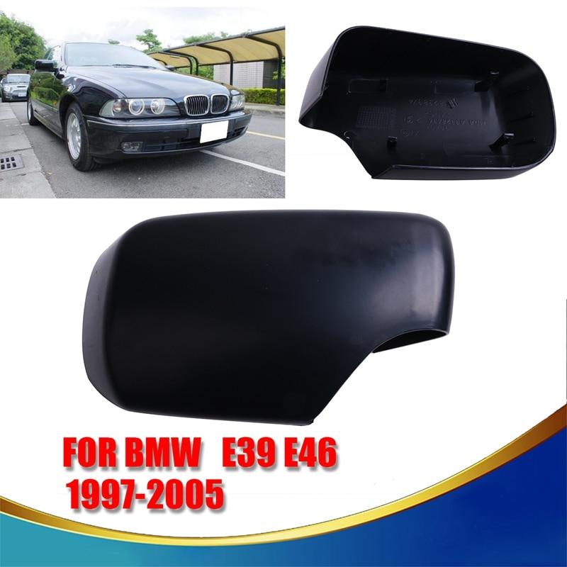 Pair Door Side Mirror Cover Cap Set For BMW E46 E39 325i 330i 525i 530i 540i