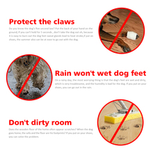 4 pcs Waterproof Dog Shoes Reflective Anti Slip Rain Boots Adjustable Winter Warm Socks Sneaker Paw Protector For Dogs Cats