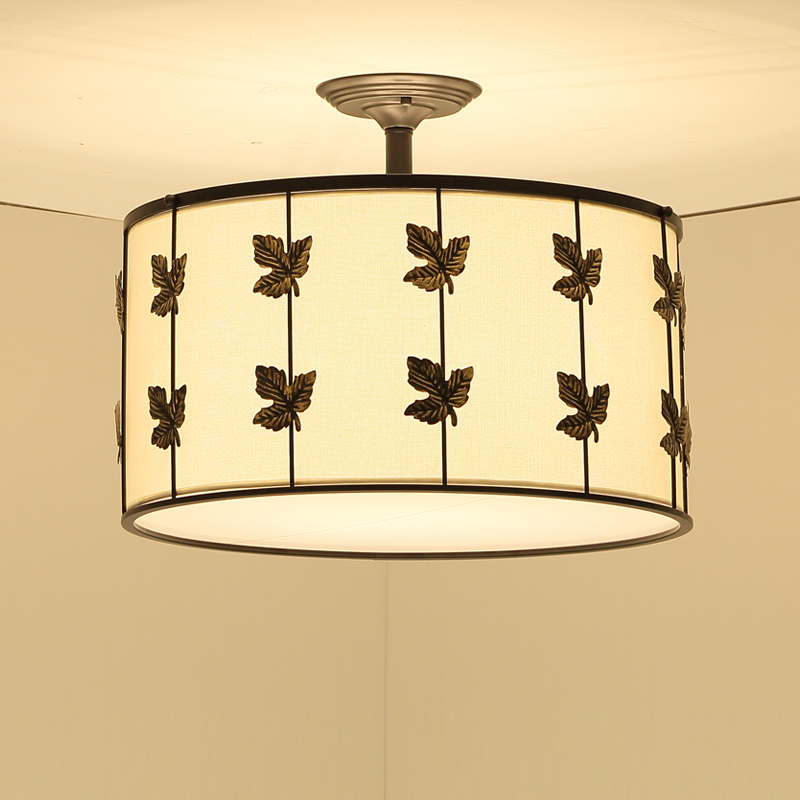 simple round E27 ceiling lamp warm bedroom study restaurant balcony entrance iron garden ...