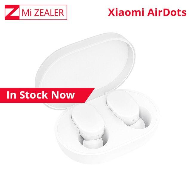 Xiaom TWS AirDots auricular bluetooth Versión juvenil estéreo bajo BT 5,0 con micrófono manos libres auriculares Touch Control con caja de carga
