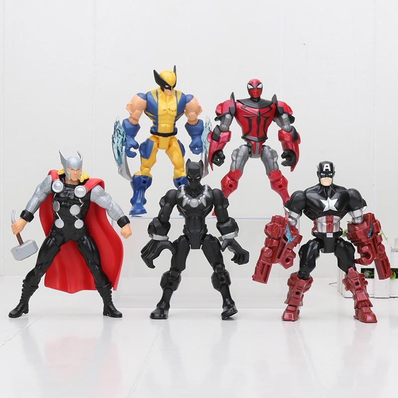 Hasbro Marvel 15cm Super Hero The Avengers action figure Toys Spiderman Captain America black panther thor Wolverine Figure toys