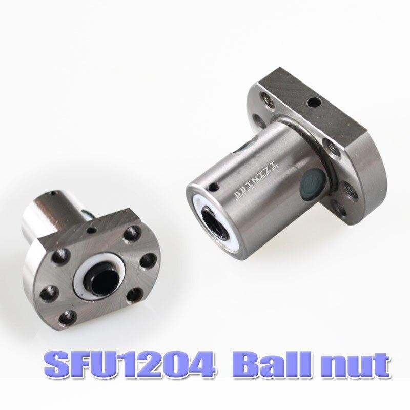 SFU1204 jeu: SFU1204 vis à billes roulées C7 avec extrémité usinée + 1204 écrou à billes + boîtier d'écrou + support d'extrémité BK/BF10 + coupleur RM1204 - 4