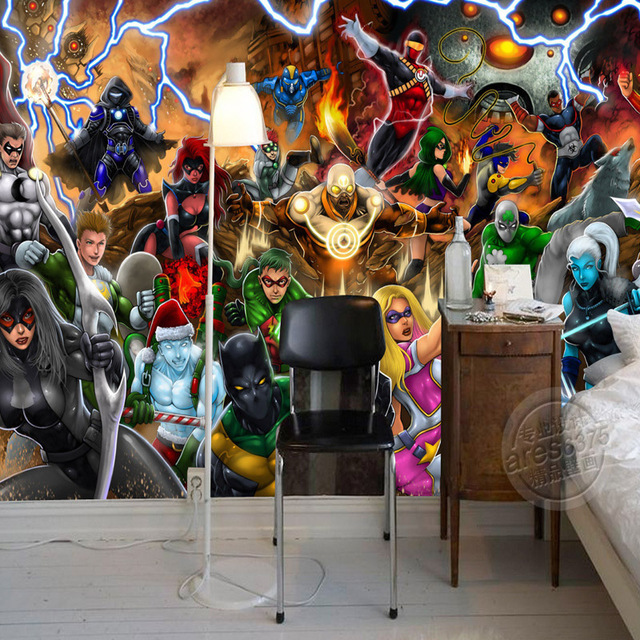 Marvel Wall Mural aliexpress : buy avengers photo wallpaper marvel comics wall