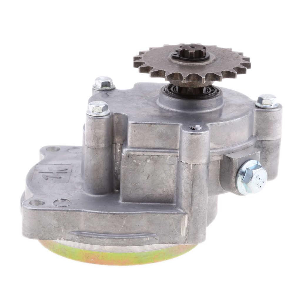 49cc 2 스트로크/4 스트로크 엔진 미니 포켓 바이크 atv petrolscooter 쵸퍼 용 1x 알루미늄 합금 오토바이 변속기 기어 박스