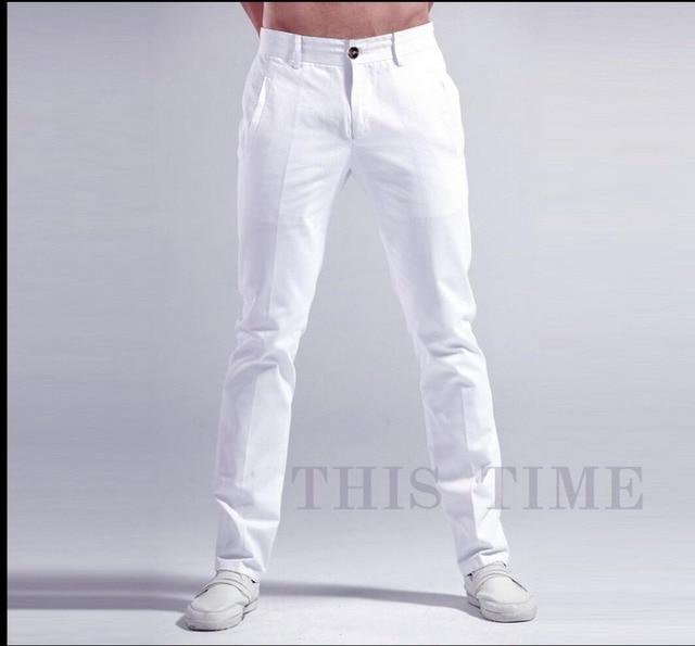 Stretch cotton trousers with belt SJMGRZ