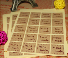 120pcs/lot Handmade Sticker 2.5*2.5cm Vintage Stickers Kraft Label Sticker DIY Hand Made For Gift Cake Baking Sealing Sticker