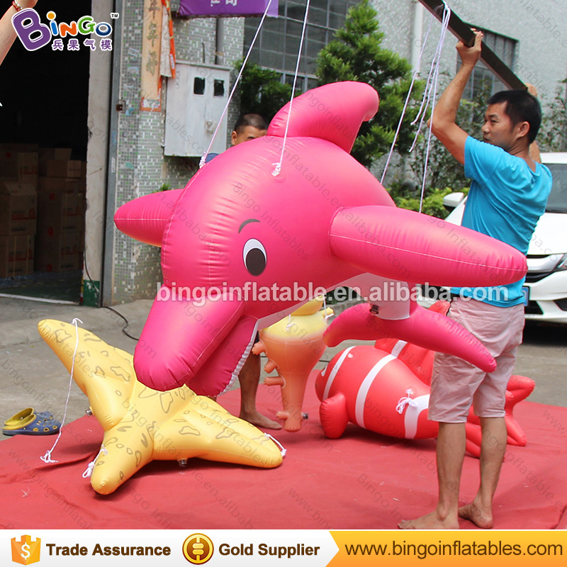Air sealed Inflatable dolphin balloon flying fish model for underwater world party advertisingAir sealed Inflatable dolphin balloon flying fish model for underwater world party advertising
