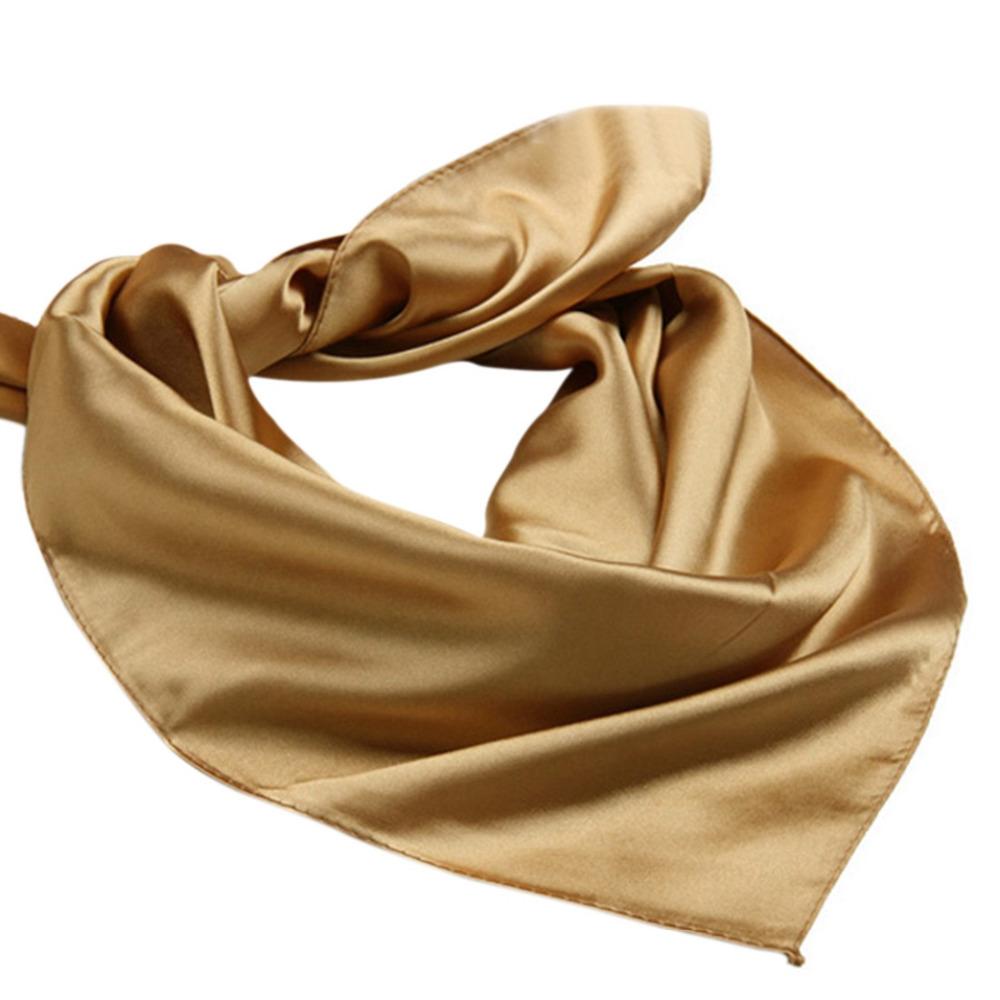 60cm*60cm   Scarves  &  Wraps   Artifical Silk   Scarf   for Ladies Small Square Satin   Scarf   Women's   Scarves   Handkerchief Solid Color