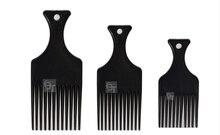 Professional Styling Tools Plastic Flat Comb Three Types Hair Fork Insert Afro Pik Lift Disc LZN0037