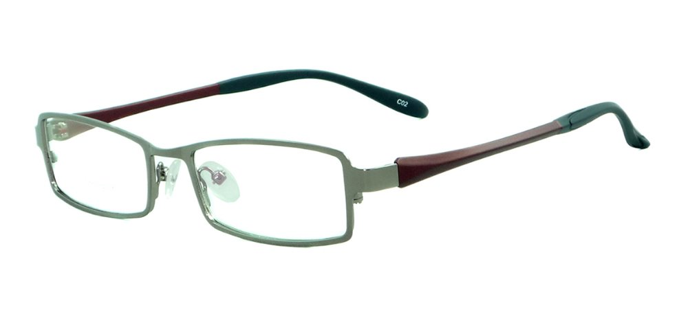 Metal Full Rim Small Rectangular Spectacles Men Super Light Flexible Eyeglasses Frames For Prescription Lenses