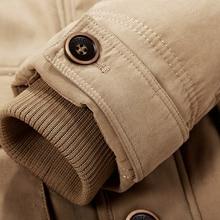 Men Jacket Winter Brand Warm Thicken Coats High Quality Famous Cotton-Padded Fashion Parkas Elegant Business Multi Pocket 4XL