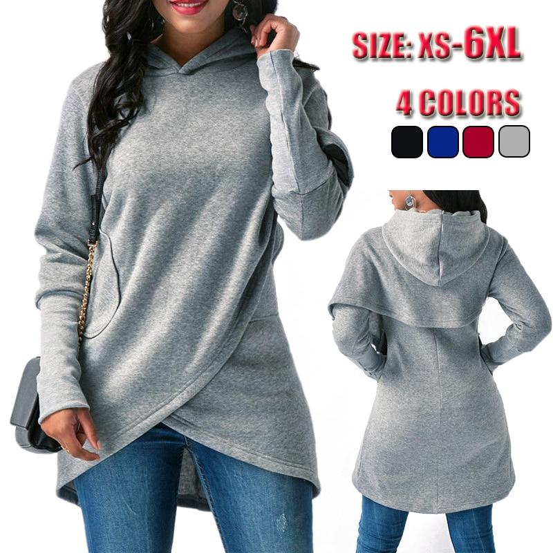 Women Hoodies Sweatshirt Kpop Solid Long Sleeve Cloak Hoody Ladies Womens Sweatshirt Sudadera Mujer Female Pullover Hooded Tops
