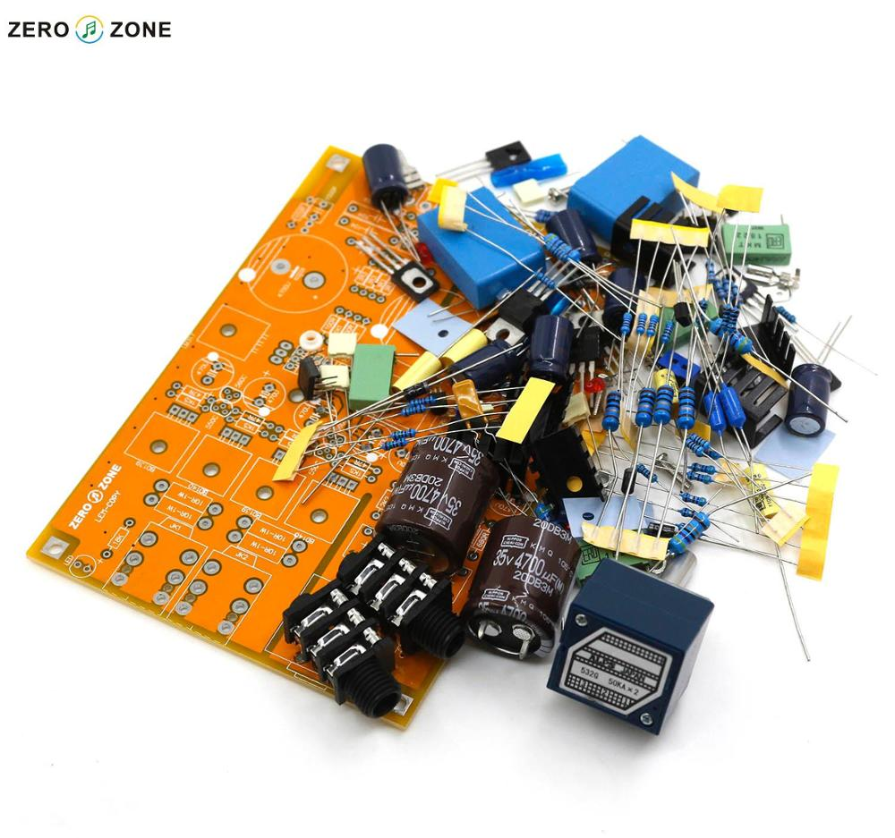 GZLOZONE Standard Version DIY Headphone Amplifier Preamp Kit Base On Lehmann Linear Amp ALPS Potentiometer