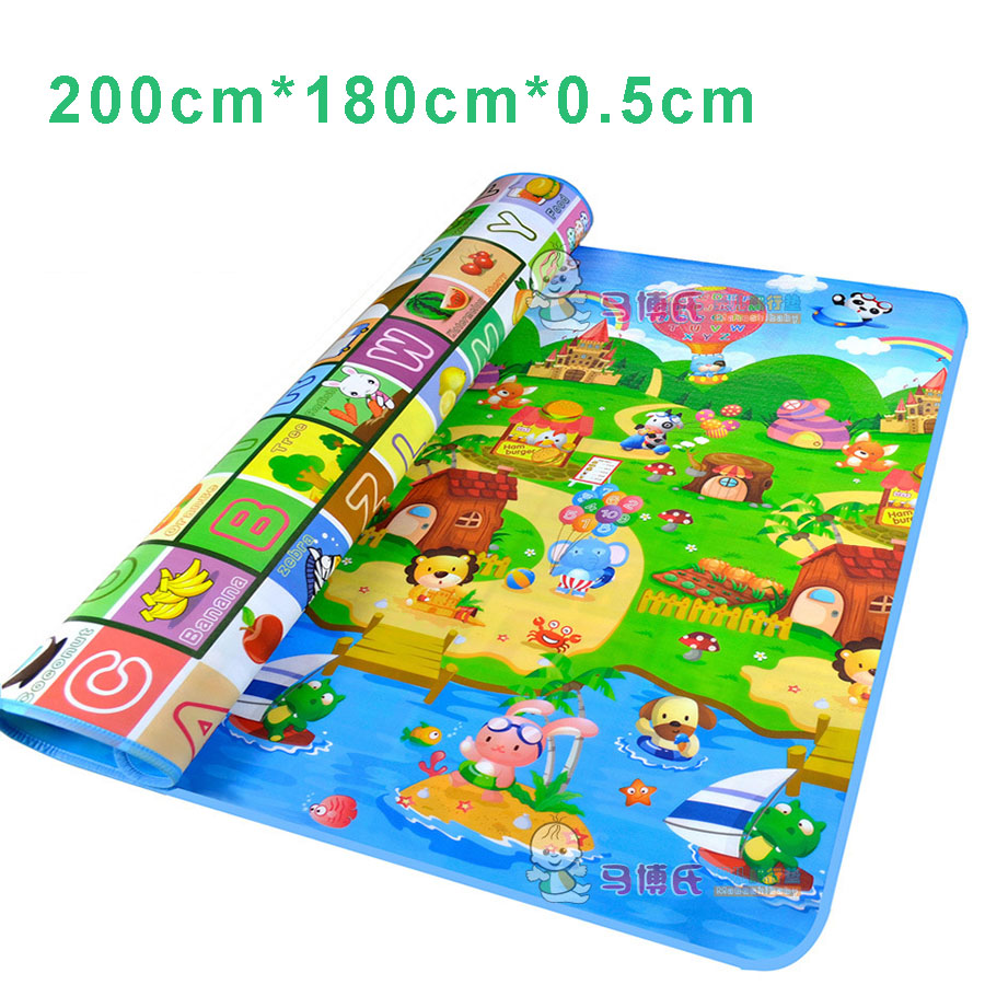 English Letter Alphabet Farm Baby Carpet Playmat Kids Rug Soft Floor Road Mat For Children Activity Crawling Play In Mats From Toys