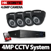 4MP 4CH Security AHD DVR CCTV System 4 0MP Outdoor Indoor Surveillance IR Night Vision AHD