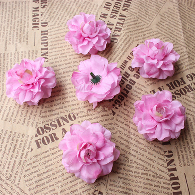 6cm Mini Artificial Lotus Flowerssilk Lotus Flower Heads For