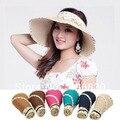 Dot bandeaus лето стиль женщины солнцезащитные головные уборы женское, Защита от ультрафиолетовых лучей солома пляж шляпы для женщины, Chapeu feminino
