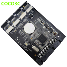 Free shipping 4 Micro SD SDXC To 22pin SATA Converter Card multiplier TF cards to 2