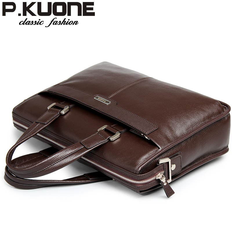 new 2017 man commercial male handbag genuine leather shoulder bags,men's casual bag leather briefcase  Fashion  Cowhide  handbag