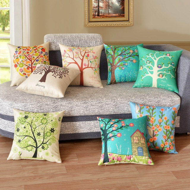 Happy Tree Decorative Cushion Covers 45x45cm