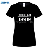 GILDAN Yo Young Women Summer T Shirts Funny Letters Design Golden PU Printed 100 180g Combed