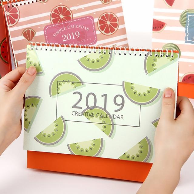 2019 year fruit multi function Simple desk calendar Desktop wall - multi year planner