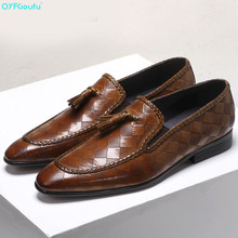 2019 Tassel Mens Dress Shoes Luxury Italian Style Fashion Formal Trend Genuine Leather US 11.5