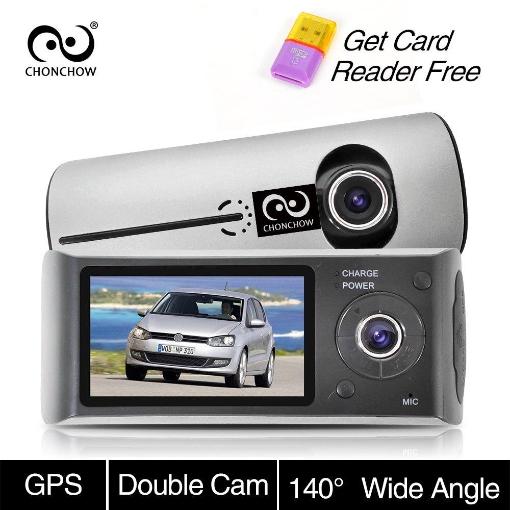 Chonchow двойной тире Камера Видеорегистраторы для автомобилей X3000 R300 gps Видеорегистраторы для автомобилей s автомобиля Камера видеорегистрато...