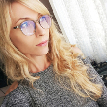 2018New man Glasses Optical Frames Women Round Frame Clear lens Eyeware For Anti Blue Rays Computer Gaming Goggles