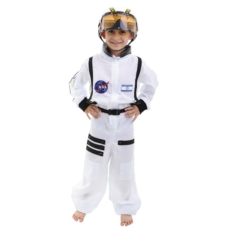 New Coming Handsome Boy Astronaut Cosplay Costume Spaceman Performance Clothing Halloween Stage Costumes Jumpsuits