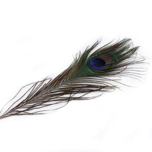 "Image 2 - 100 יחידות 25 30 ס""מ קישוטי נוצות עיני נוצות זנב טווס טבעי יפה למלאכה/אמנות/שמלה/כובעים/כלה תלבושות"