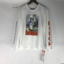 17FW Heron The World Tour Women Men Printed T shirt Hiphop High Street Heron Preston Crowned London Moscow Tops T shirts Tee(China)