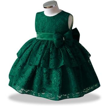 Petal Toddler Baby Girl Infant Princess Lace Tutu Dress Baby Girl Wedding Dress Kids Party Vestidos for Baby 1 Years birthday 1