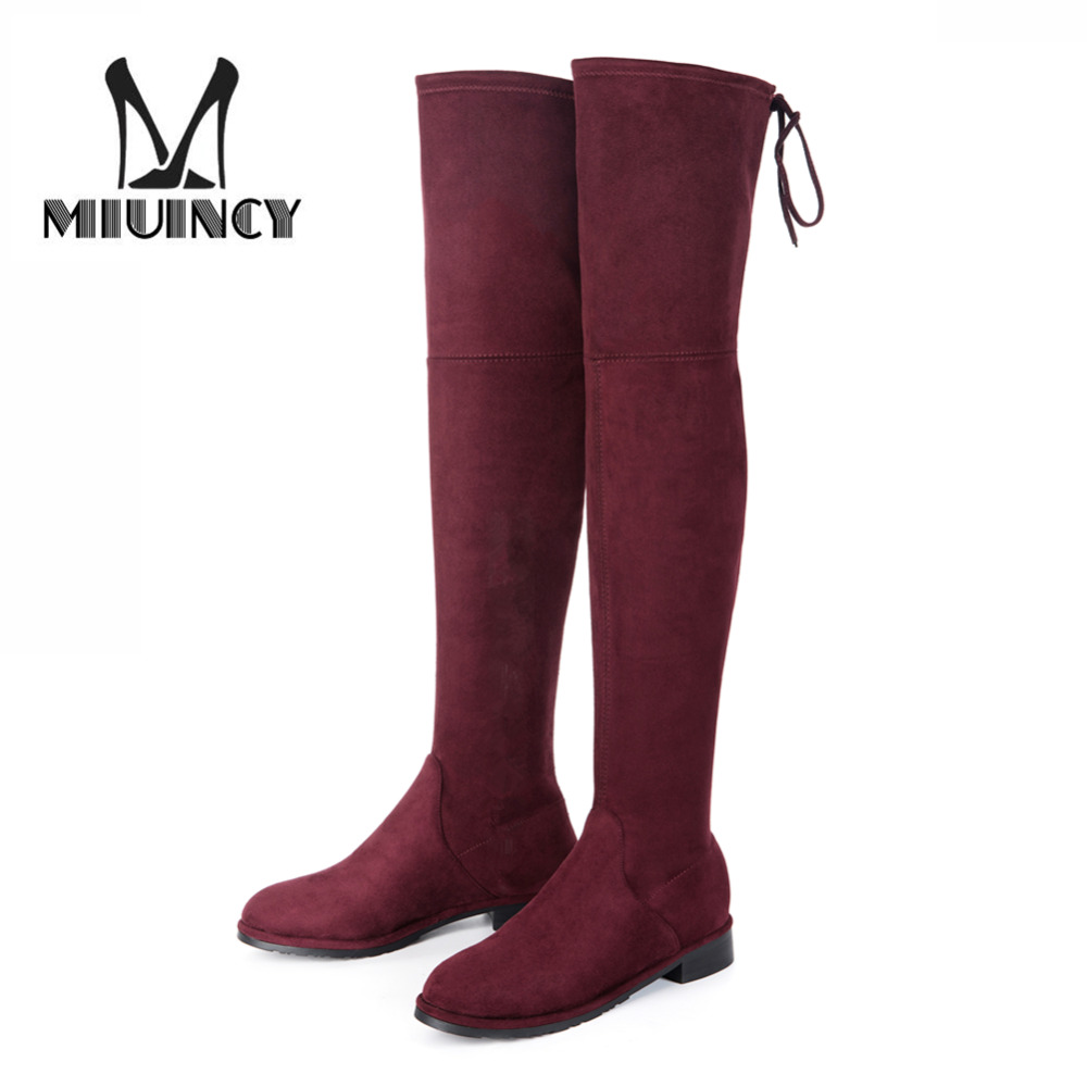 Women Over The Knee Boots Square Low Heel Thigh High Boots Winter And Autumn Woman Motorcycle Boots Sexy Botas Mujer Femininas avvvxbw 2016 brand women boots winter over the knee boots shoes woman sexy high heeled thigh high boots botas femininas c323