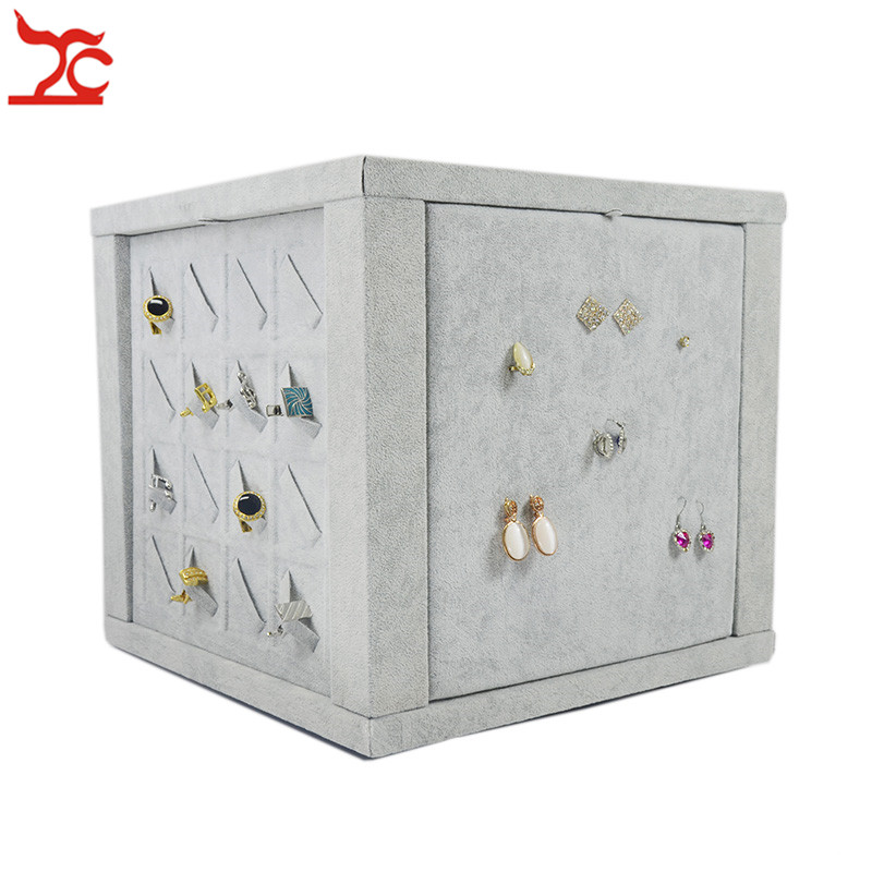 Multifunction Rotating Jewelry Display Case Portable Store ...
