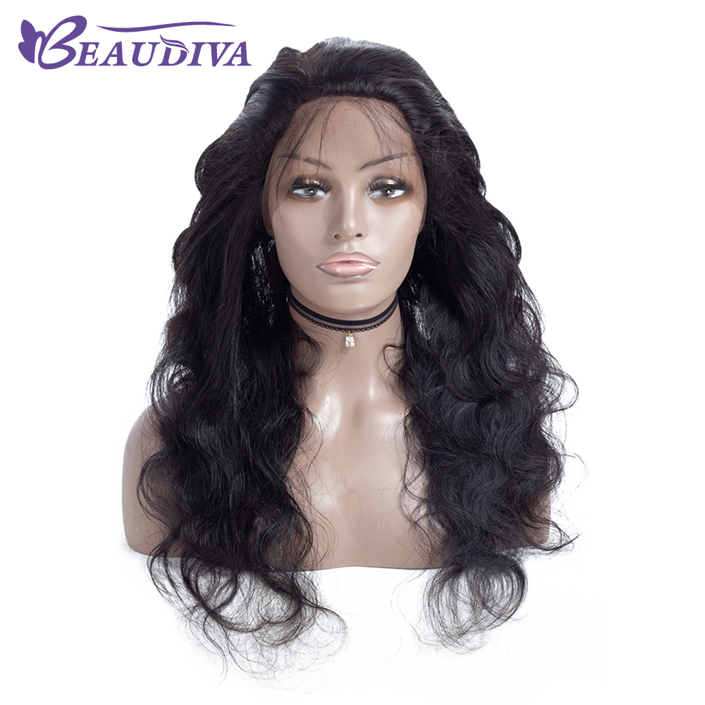 Beau Diva 360 Lace Frontal Wigs Pre Plucked With Baby Hair Full Brazilian Body Wave Human Hair Lace Front long Wigs-in Closures from Hair Extensions & Wigs    1