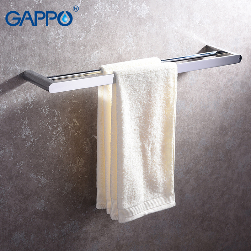 GAPPO Towel Bars bath hardware accessories bathroom towel holders hanger rod wall mounted rack porte serviette цена