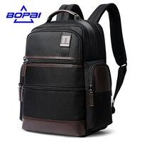 BOPAI 14 15 6 Inch Oxford Laptop Backpack Men Women Weekend Travel Backpacks USB Charging Black