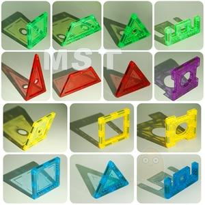Image 2 - 98PCS Trasparente Magneti Blocchi set di Blocco Costruzione Piastrelle 3D Magnetico Blocchi Bambini Costruttore Playboards Bambino Gioco Creatività Giocattoli