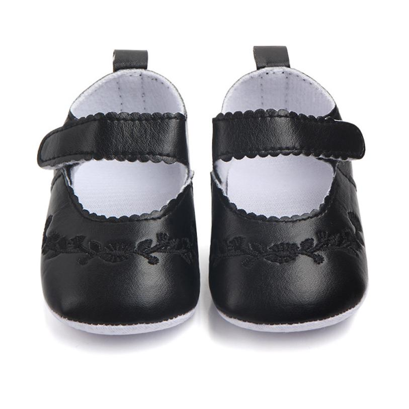 TELOTUNY Newborn Baby Fashion Sneaker Girls Stitchwork Anti-slip Single Shoes Sneaker V1156