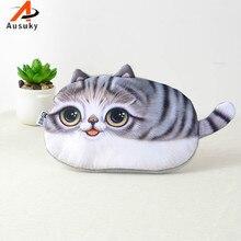 Новинка, 3D портмоне «кошка», милый детский мультяшный кошелек, сумка для монет, Детский кошелек, Женский кошелек для монет