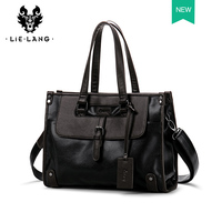 Briefcase Men Leather Black Business bag handbag men leather Casual Travel Cross Section Leather Laptop Bag Male