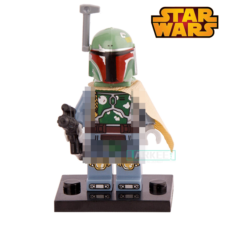 1PC New Boba Fett Star Wars 7 The Force Awakens Starwars Building Blocks Set Model Children Classic Bricks Toys For Kids Gift play arts star wars the force awakens boba fett figure action figures gift toy collectibles model doll 204