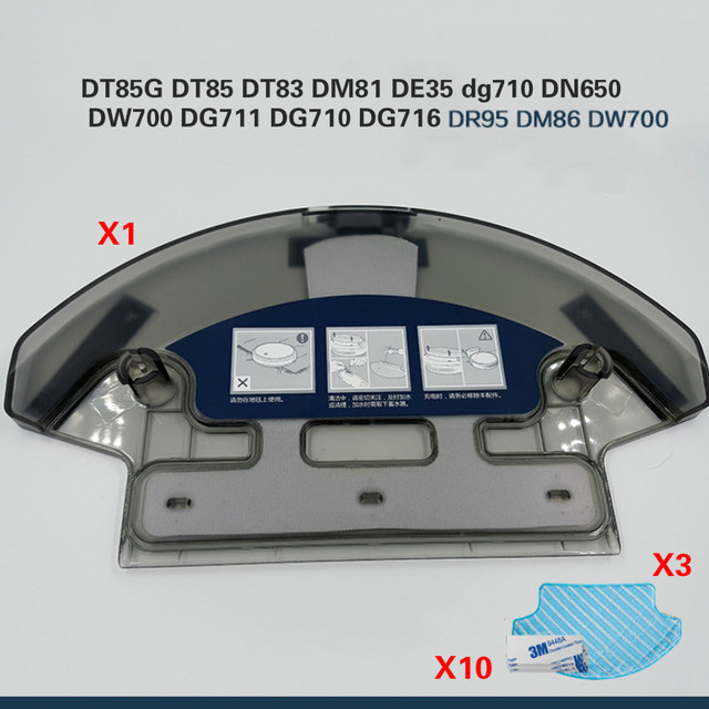 Water Tank +3* Mop Cloth for Ecovacs Deebot DT85G DT85 DT83 DM81 DE35 dg710 Robot Vacuum Cleaner Parts Water Tank Replacement